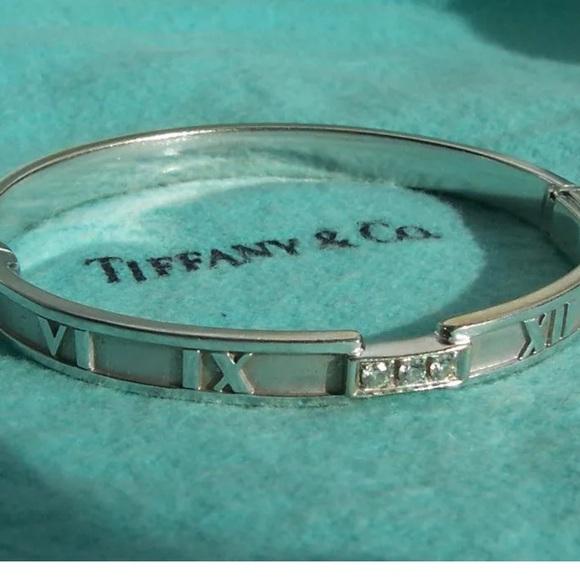79bc8ecb7 Tiffany & Co. Jewelry | Tiffany Co Gold Atlas Hinged Bracelet | Poshmark